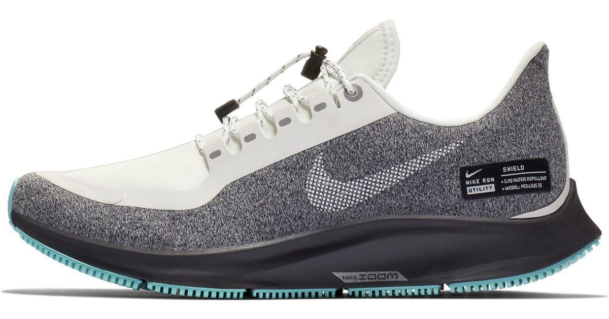 Nike White Air Zoom Pegasus 35 Shield Gs Water Repellent Running Shoe