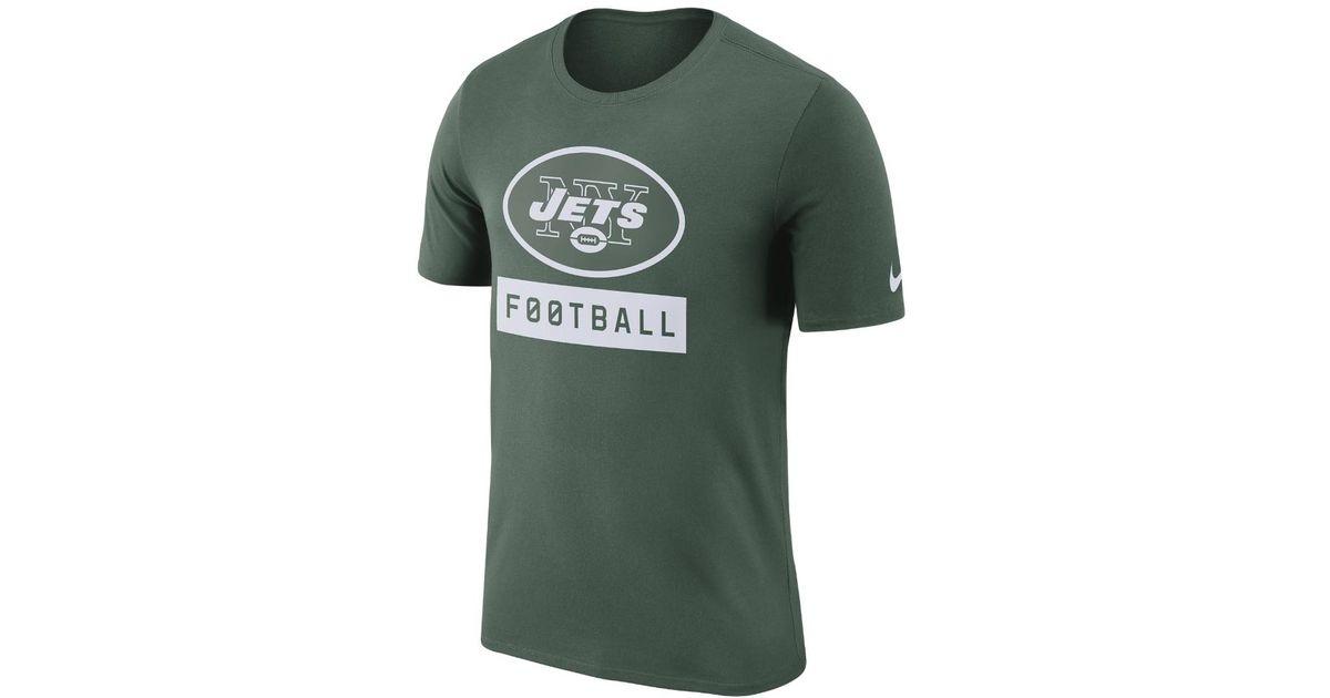 Lyst - Nike Dri-fit Football Logo (nfl Jets) Men s T-shirt in Green for Men 999991f59