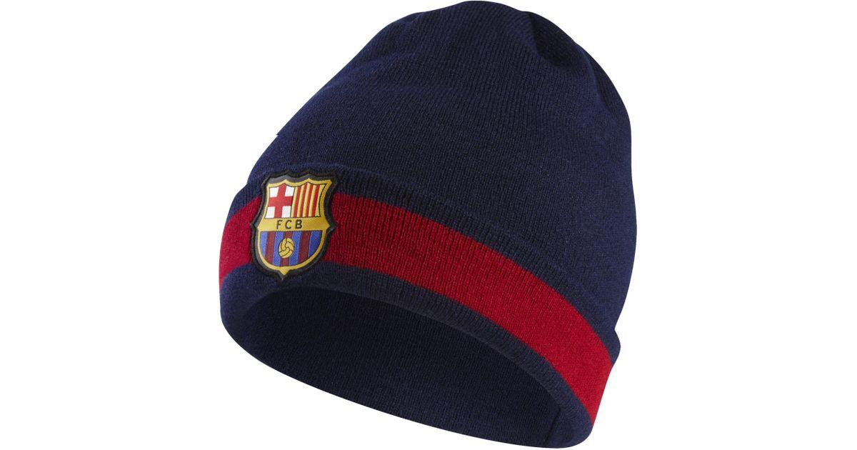 Nike Fc Barcelona Beanie in Blue - Lyst ea86cd9cc6a