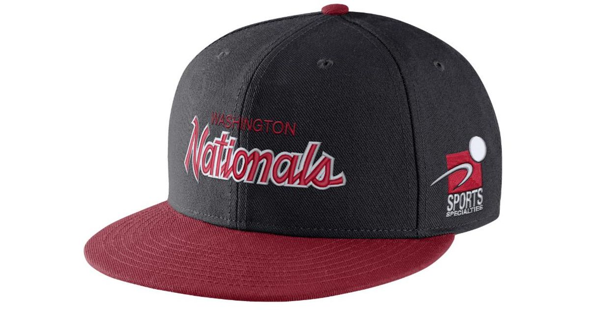 premium selection 3b351 82fa9 Lyst - Nike Pro Sport Specialties (mlb Nationals) Adjustable Hat (blue) in  Blue for Men