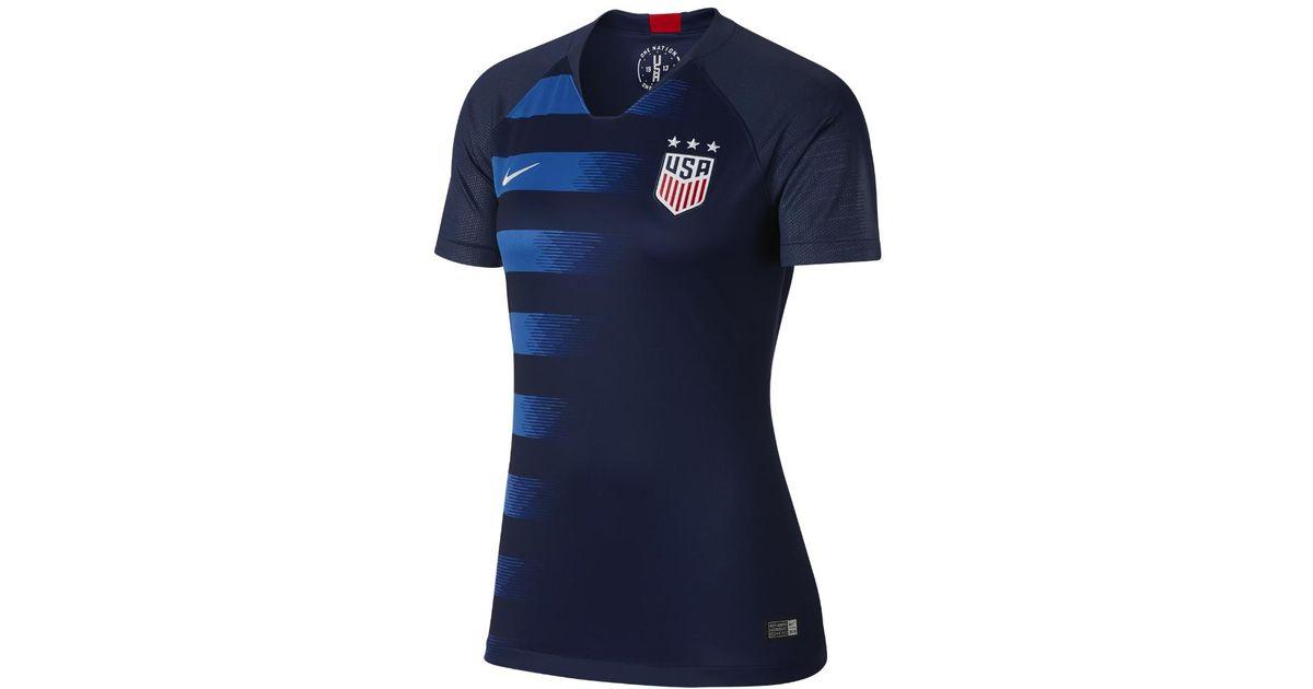 Lyst - Nike 2018 U.s. Stadium Away Women s Soccer Jersey in Blue dfa64ea66