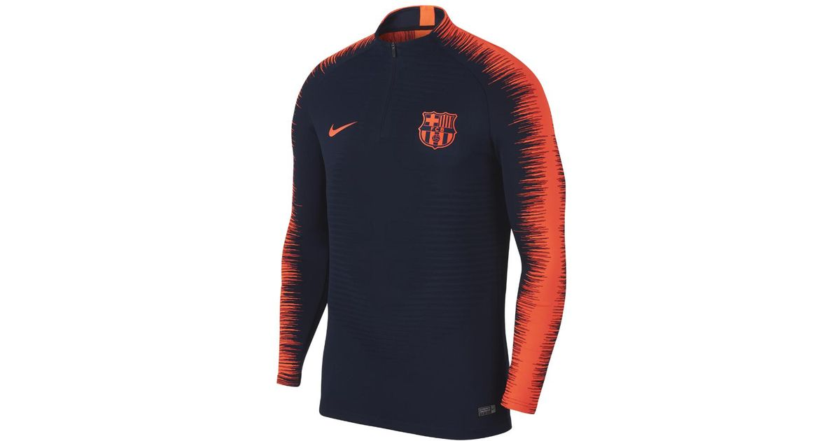 bf635c56f0e Nike Fc Barcelona Aeroswift Strike Drill Men s Soccer Top in Blue for Men -  Lyst