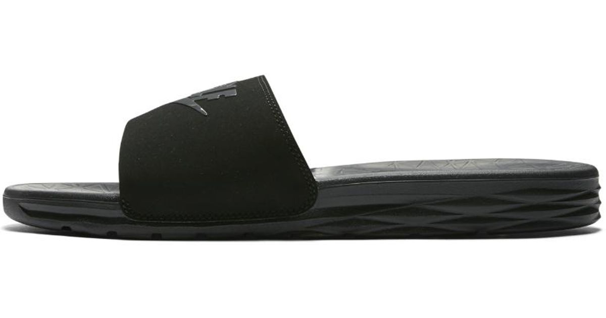 2029838c1bb4 Lyst - Nike Benassi Solarsoft 2 Men s Golf Slide in Black for Men