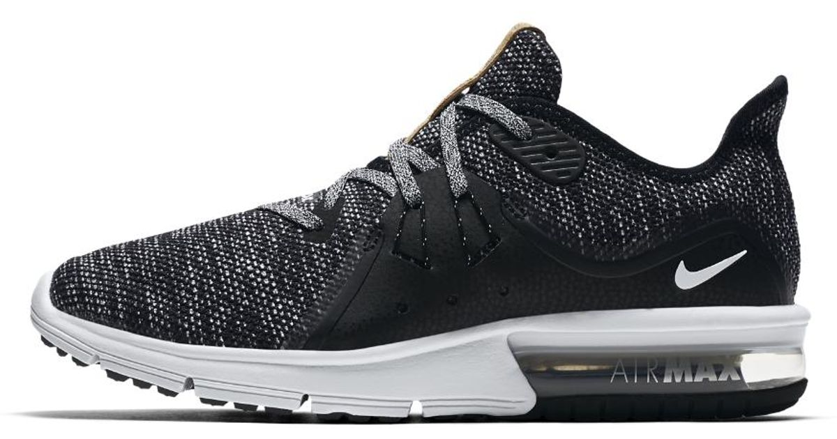 Lyst - Nike Air Max Sequent 3 Women s Running Shoe in Black 2cc928c5e2