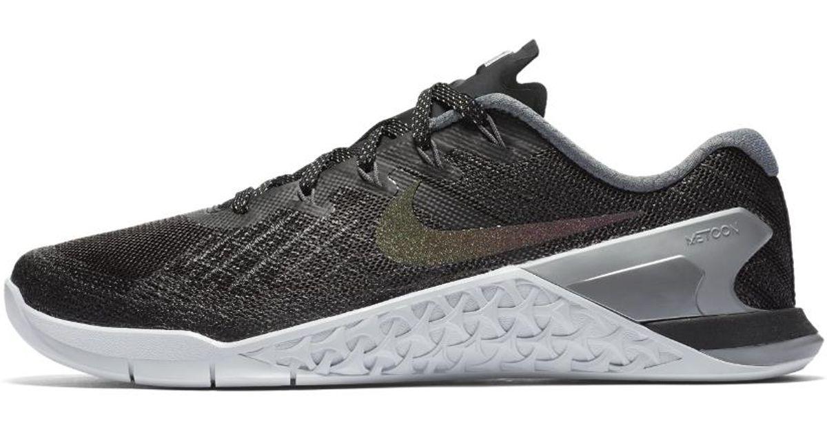 Lyst - Nike Metcon 3 Metallic Women s Training Shoe in Metallic 902bfc560