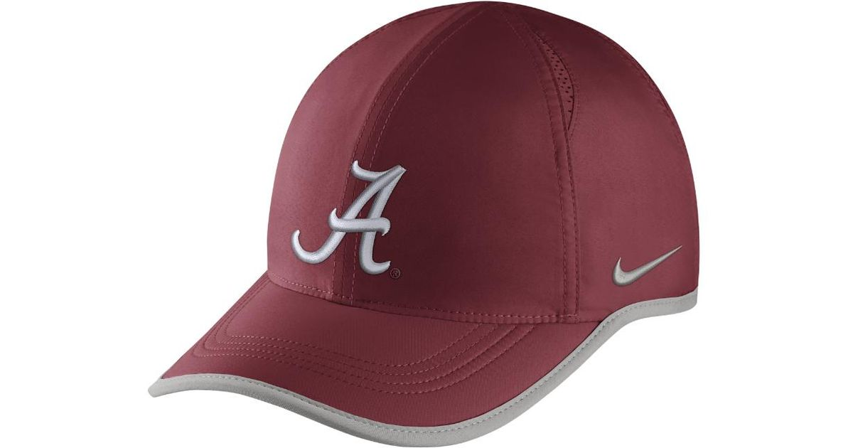aed0e590 ... reduced lyst nike college aerobill featherlight alabama adjustable hat  red clearance sale in red for men