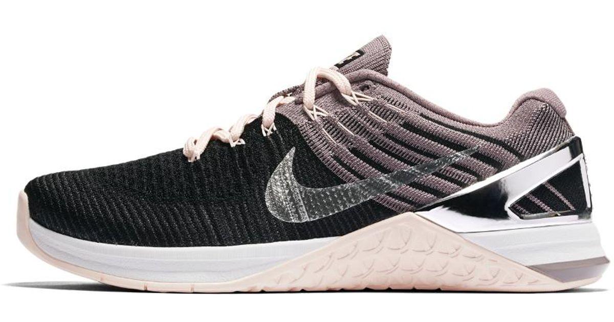 a45b979903b05 Lyst - Nike Metcon Dsx Flyknit Chrome Blush Women s Training Shoe in Black
