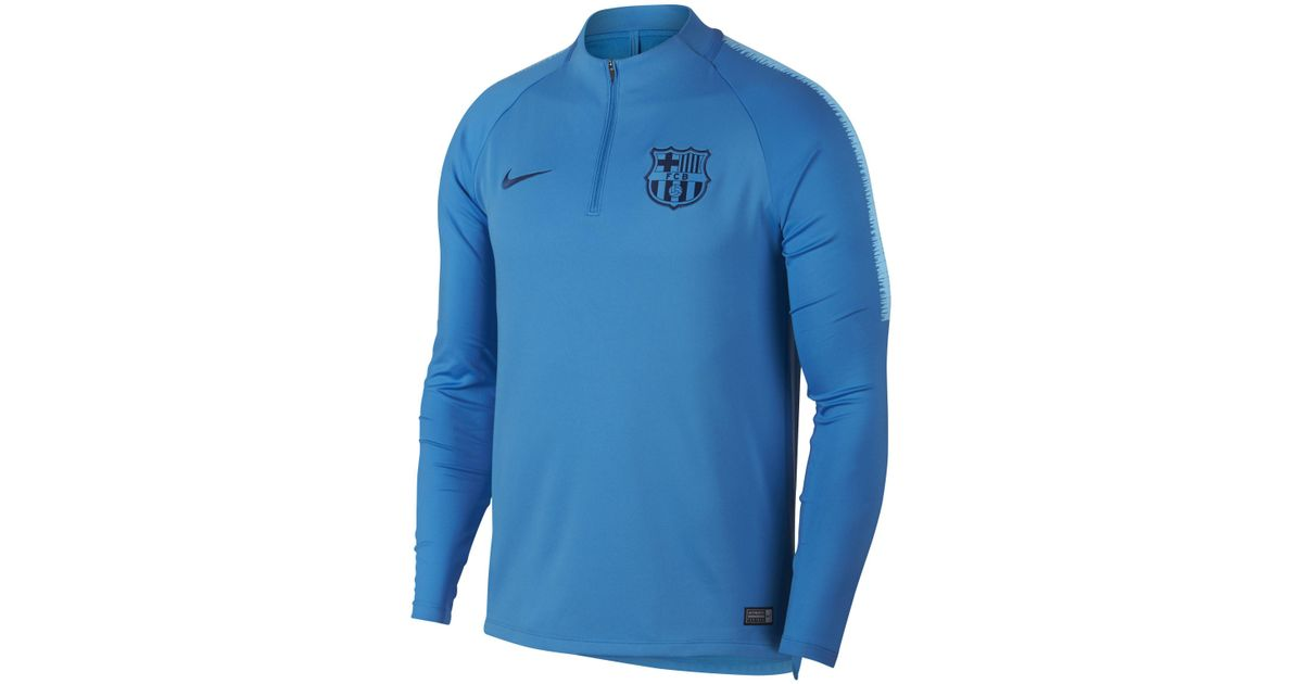Nike Fc Barcelona Dri-fit Squad Drill Long-sleeve Football Top in Blue for  Men - Lyst 9bd544f6e68