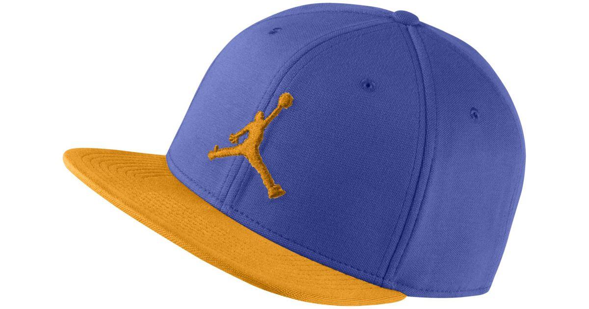 7acfda6cd846dc Nike Jordan Jumpman Snapback Adjustable Hat in Blue - Lyst