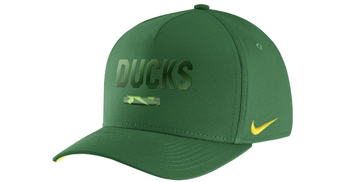 b703b57f067 ... italy lyst nike college classic 99 swoosh flex oregon fitted hat in  green for men 390a6