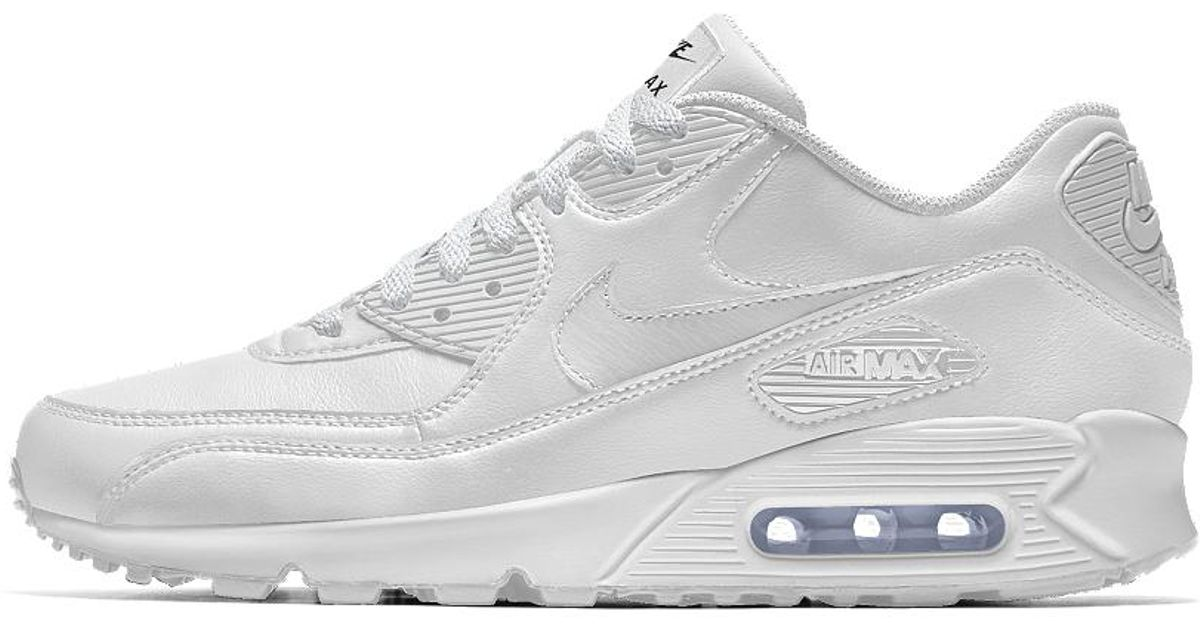 quite nice 2606e f7e84 Nike Air Max 90 Id Women s Shoe in White - Lyst