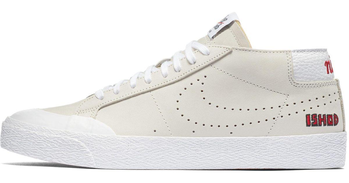 best service f6965 5fc57 Nike - White Sb Ishod Wair Zoom Blazer Chukka Xt Qs Skateboarding Shoe for  Men - Lyst