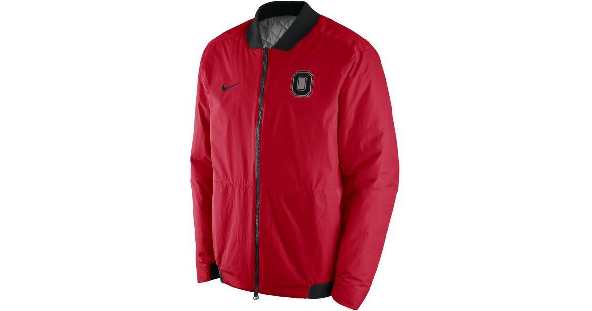 buy popular 1e56d 85eae Nike Bomber (ohio State) Men s Jacket in Red for Men - Lyst