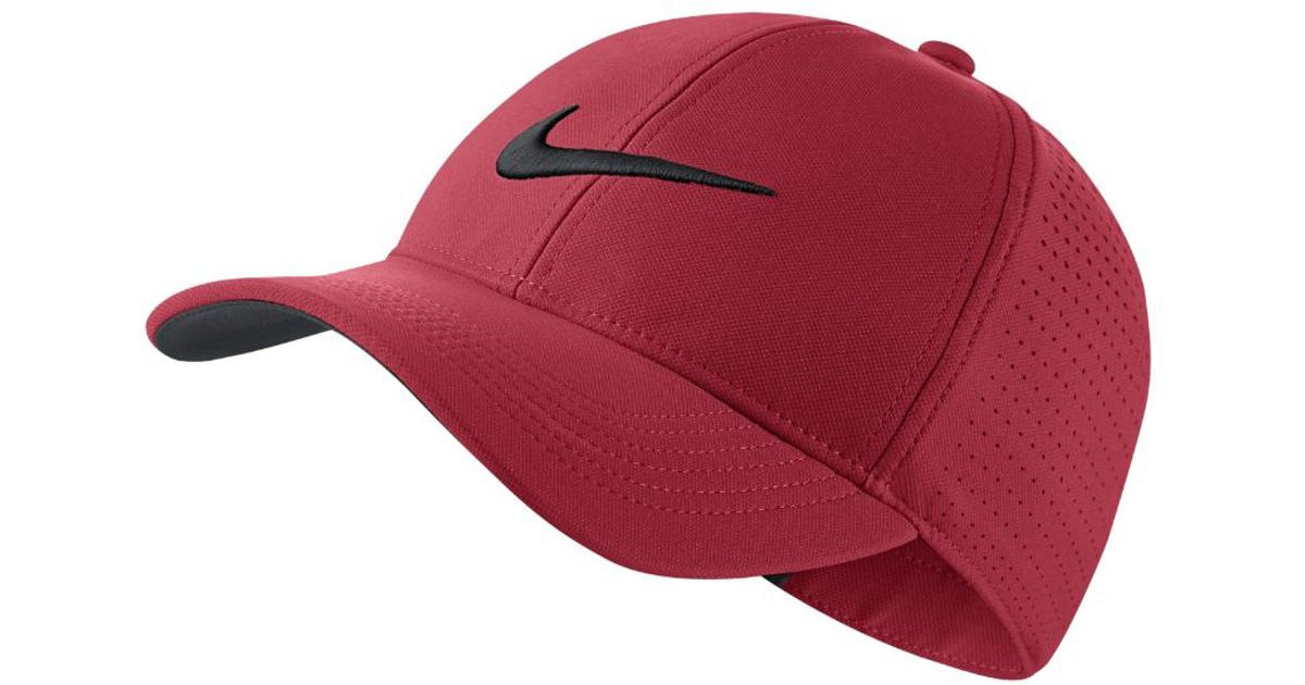 Lyst - Nike Legacy 91 Perforated Adjustable Golf Hat (pink) - Clearance  Sale in Pink for Men 64e0827afba