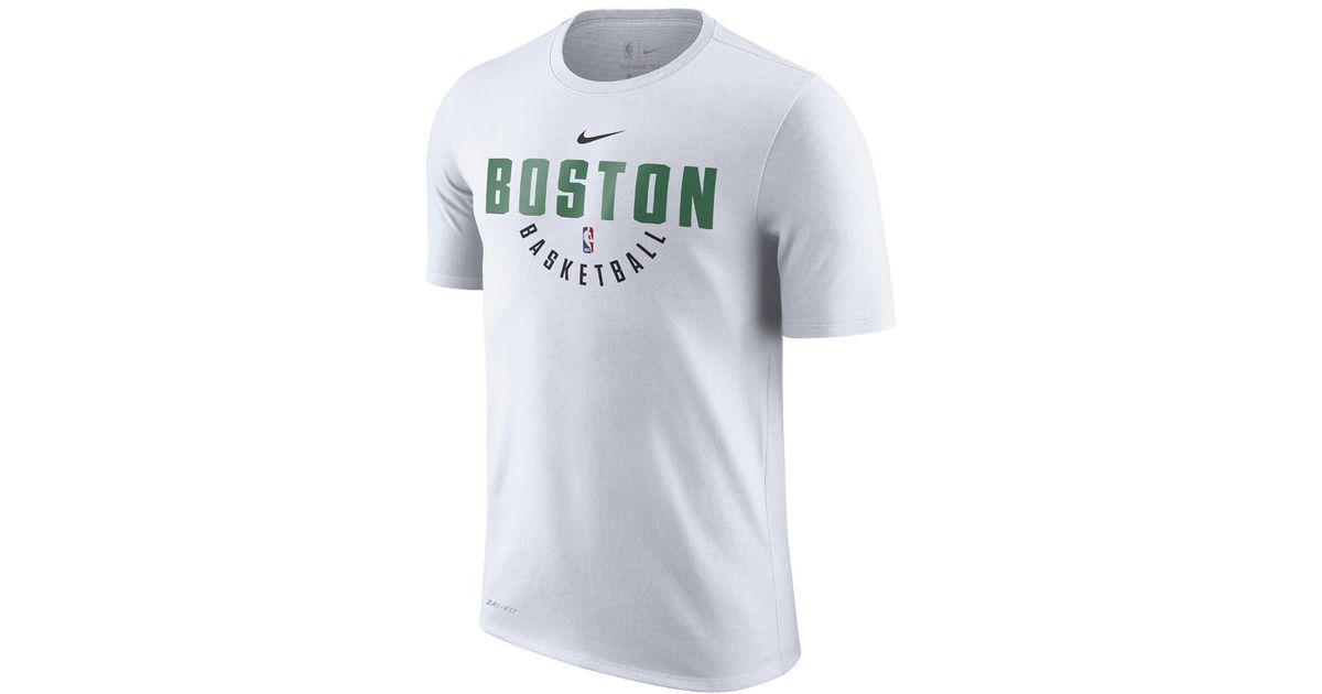 3b1485a0075 Nike Boston Celtics Dry Men's Nba T-shirt in White for Men - Lyst