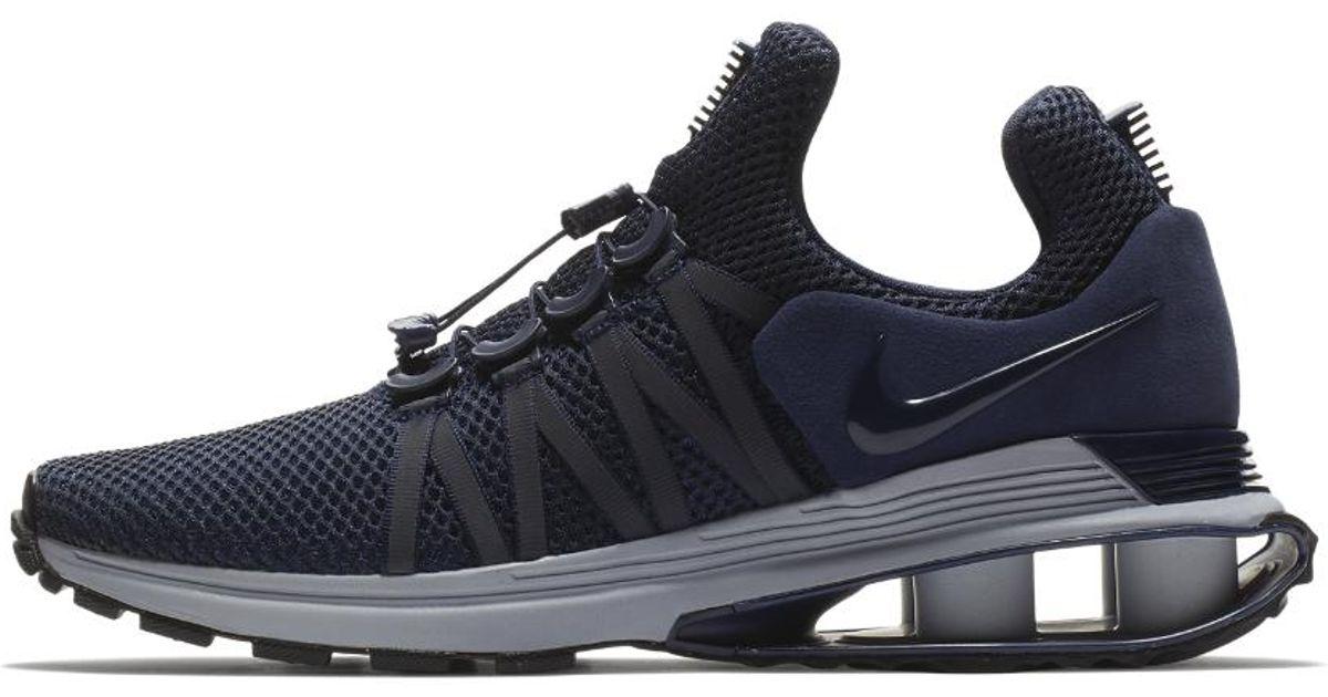 Lyst - Nike Shox Gravity Men s Shoe in Blue for Men 92b3624dc