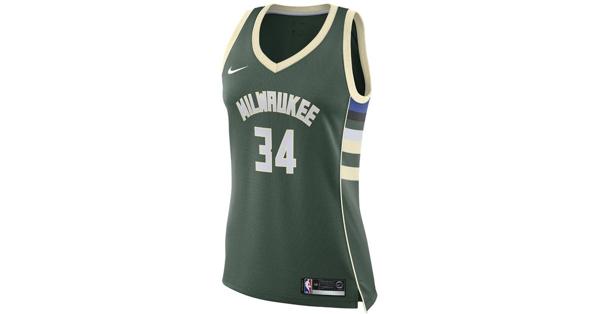 Lyst - Nike Giannis Antetokounmpo Icon Edition Authentic (milwaukee Bucks) Nba  Connected Jersey in Green for Men 6a7d1d259