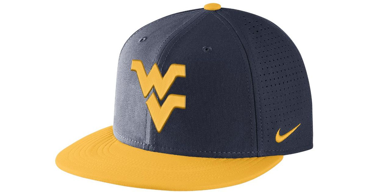 5d57daae ... canada lyst nike college aerobill true west virginia adjustable hat  blue in blue for men fcd87