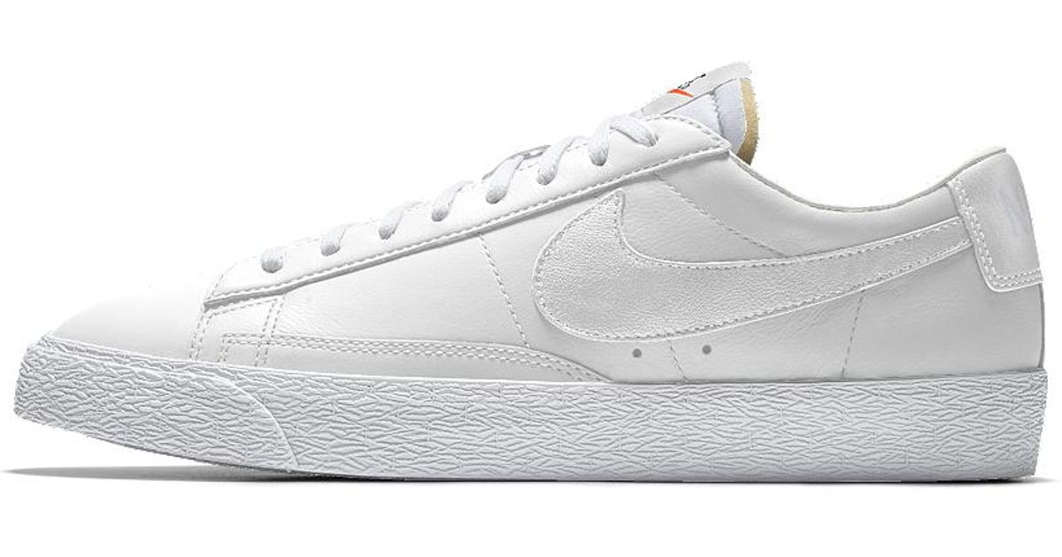 ... netherlands lyst nike blazer low id mens shoe in white for men 8840a  d2527 876c1b17a