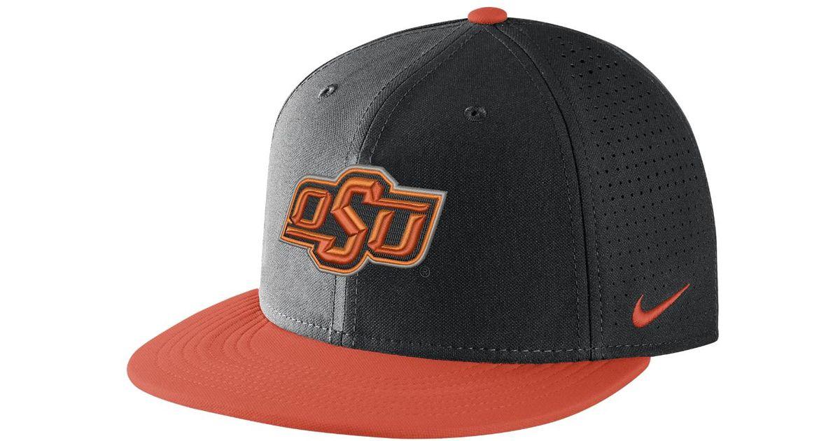 0bdf44ac03863 ... denmark lyst nike college aerobill true oklahoma state adjustable hat  black in black for men 12fb7