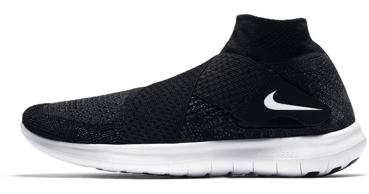 reputable site 2d3d2 a6693 Nike Free Rn Motion Flyknit 2017 Women s Running Shoe in Black - Lyst