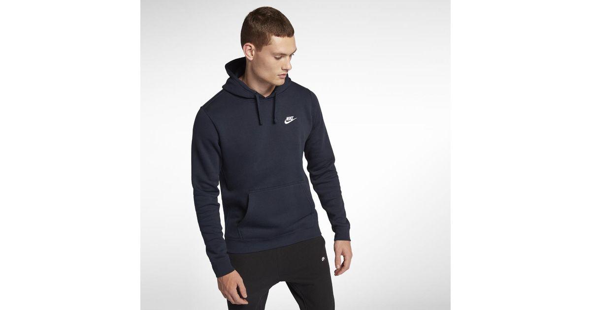 7f95275df74e Lyst - Nike Sportswear Club Fleece Men s Hoodie in Blue