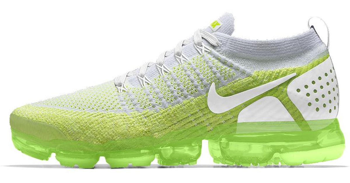 reputable site 78d78 b7c5c Nike Air Vapormax Flyknit 2 Id Men s Running Shoe in Green for Men - Lyst