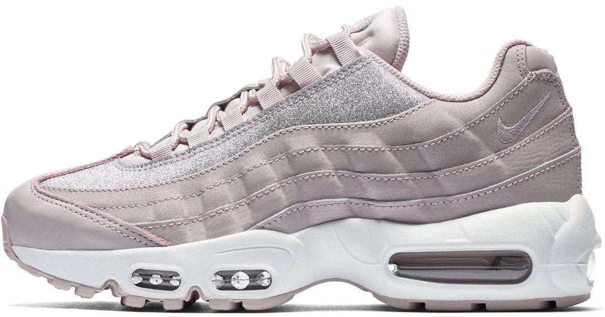 Nike Air Max 95 Se Glitter Shoe in Pink - Lyst 21a864422