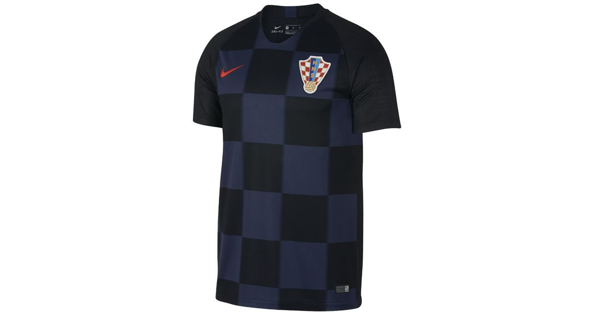 4b12c8a7661 Lyst - Nike 2018 Croatia Stadium Away Men s Soccer Jersey in Blue for Men