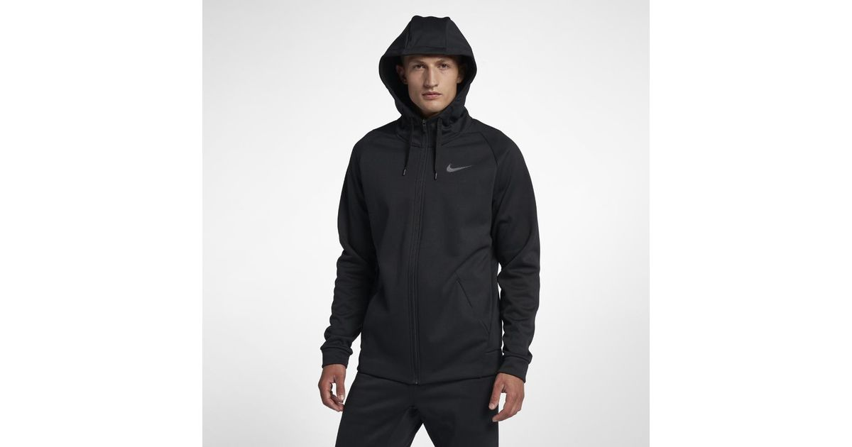 f1d50a91a Nike Dri-fit Therma Men's Full-zip Training Hoodie in Gray for Men - Lyst