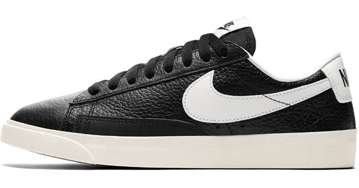 reputable site 8ce73 fb4ee Lyst - Nike Blazer Premium Low Womens Shoe in Black