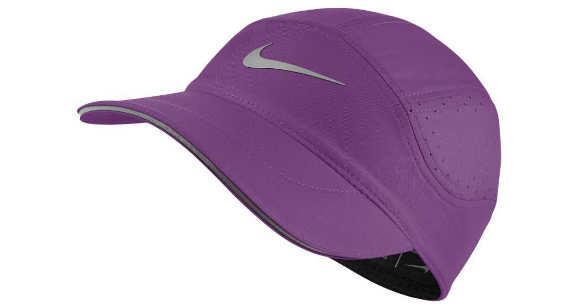 99f92fb6c88 Lyst - Nike Aerobill Women s Running Hat (purple) in Purple