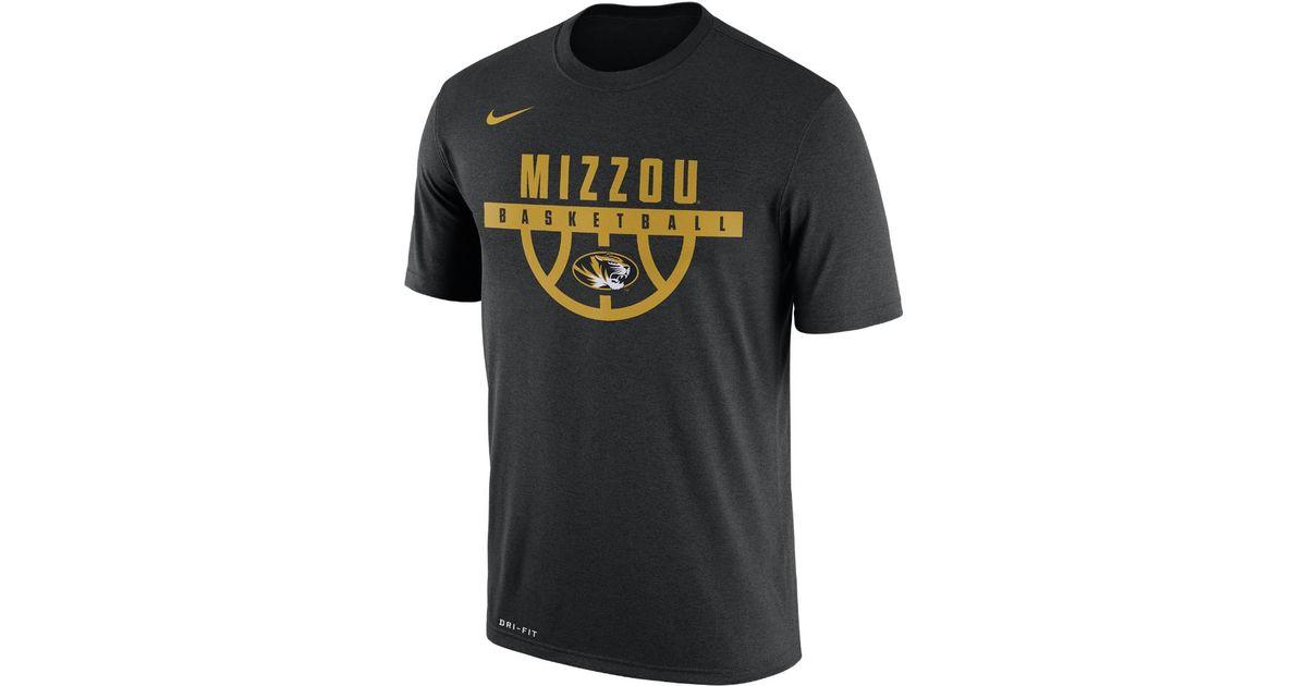 d61bc36409de Lyst - Nike College Dry Basketball (missouri) Men s T-shirt in Black for Men