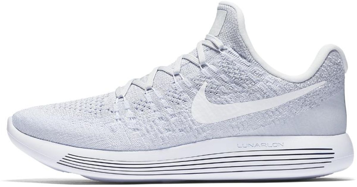 separation shoes 3df3b 96b4b Lyst - Nike Lunarepic Low Flyknit 2 Men s Running Shoe in White for Men