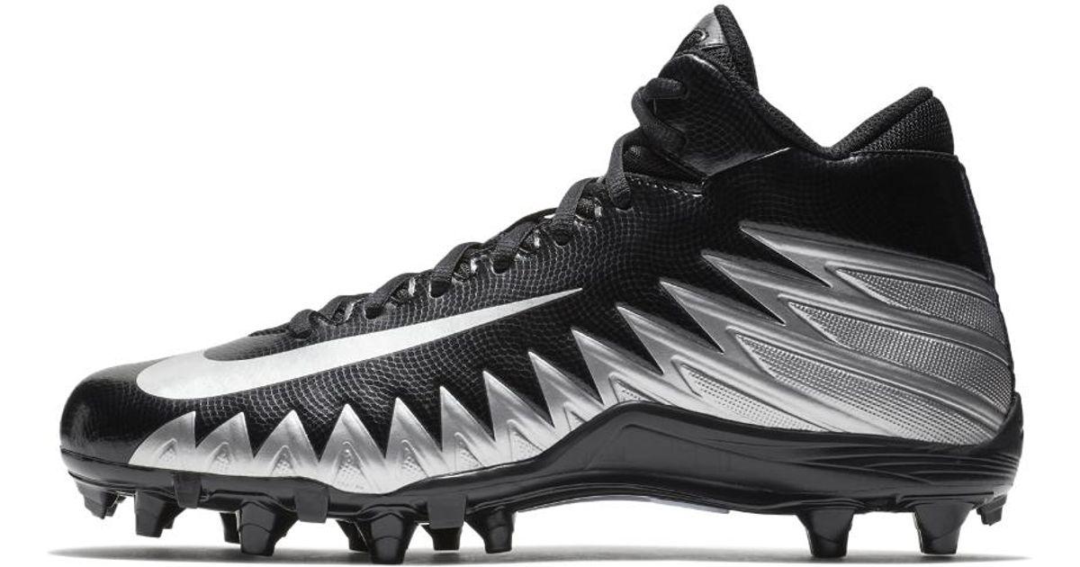 afe90800d5f Lyst - Nike Alpha Menace Varsity Mid Men s Football Cleat in Black for Men