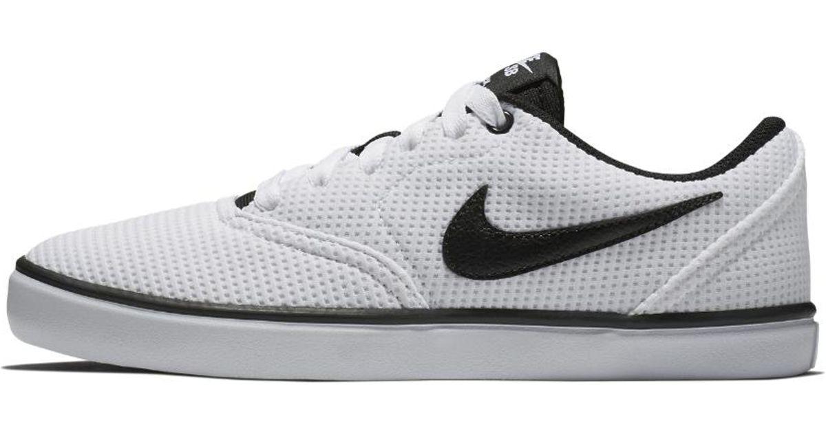 485125cd95e9 Lyst - Nike Sb Check Solarsoft Canvas Women s Skateboarding Shoe in White