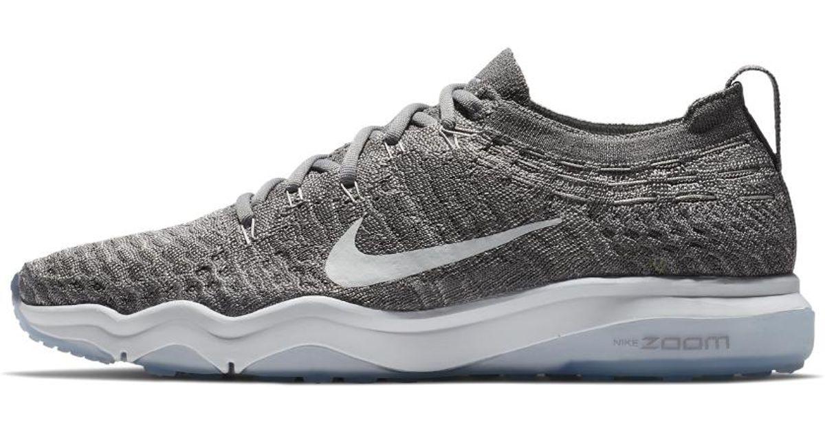 Lyst - Nike Air Zoom Fearless Flyknit Lux Women s Training Shoe in Gray 1a92e9976e6c