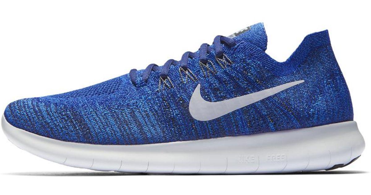 Nike Blue Free Rn Flyknit 2017 Men's Running Shoe for Men Lyst