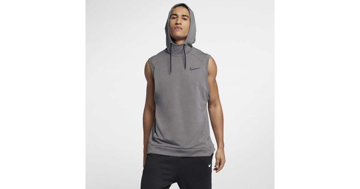 09d82ea02bac1 Lyst - Nike Dri-fit Hooded Men s Sleeveless Training Top in Gray for Men