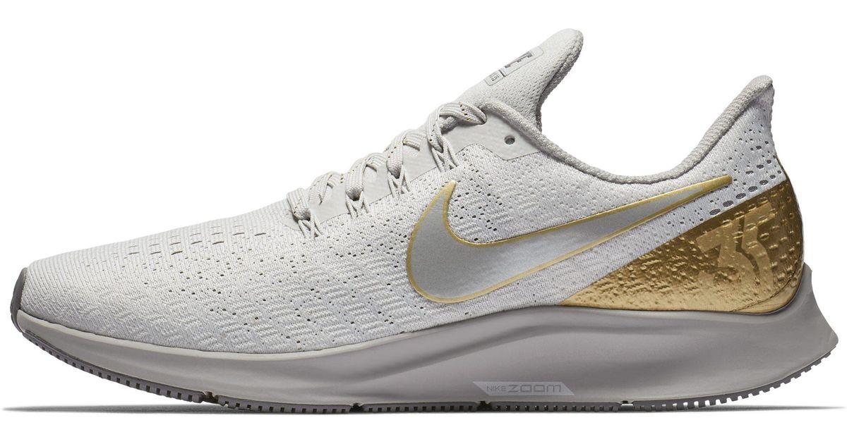 b14c5f8836e5e Nike Air Zoom Pegasus 35 Metallic Running Shoe in Gray - Lyst
