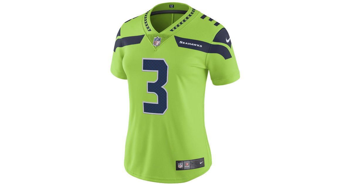 e8f485efa6c Nike Nfl Seattle Seahawks Color Rush Limited (russell Wilson) Women's  Football Jersey in Green - Lyst