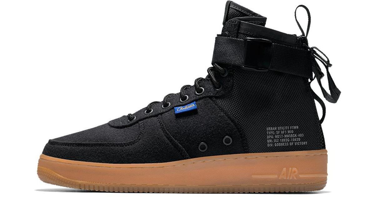 check out f1416 5b0f0 Nike - Black Sf Air Force 1 Mid Premium Id Men's Shoe for Men - Lyst