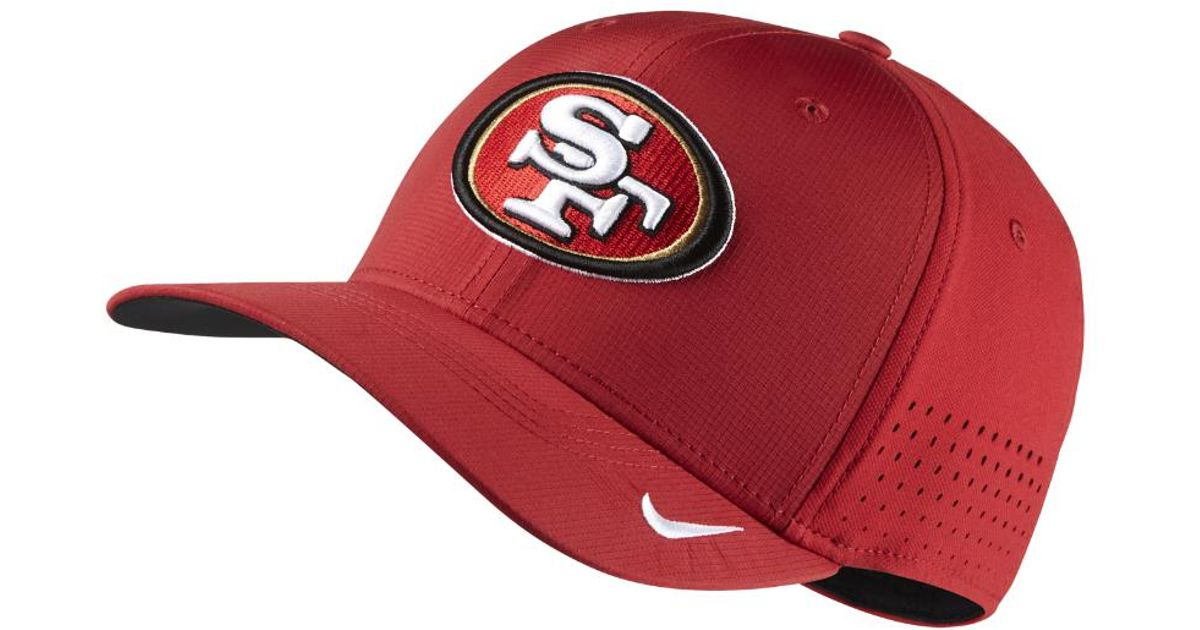 low priced a77de e31cd ... reduced lyst nike swoosh flex nfl 49ers fitted hat in red for men 29754  0ed7d