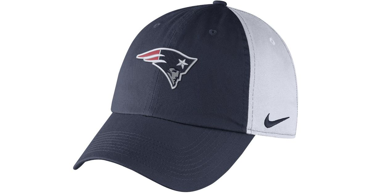 Lyst - Nike H86 (nfl Patriots) Adjustable Hat (blue) in Blue for Men fee3ee757