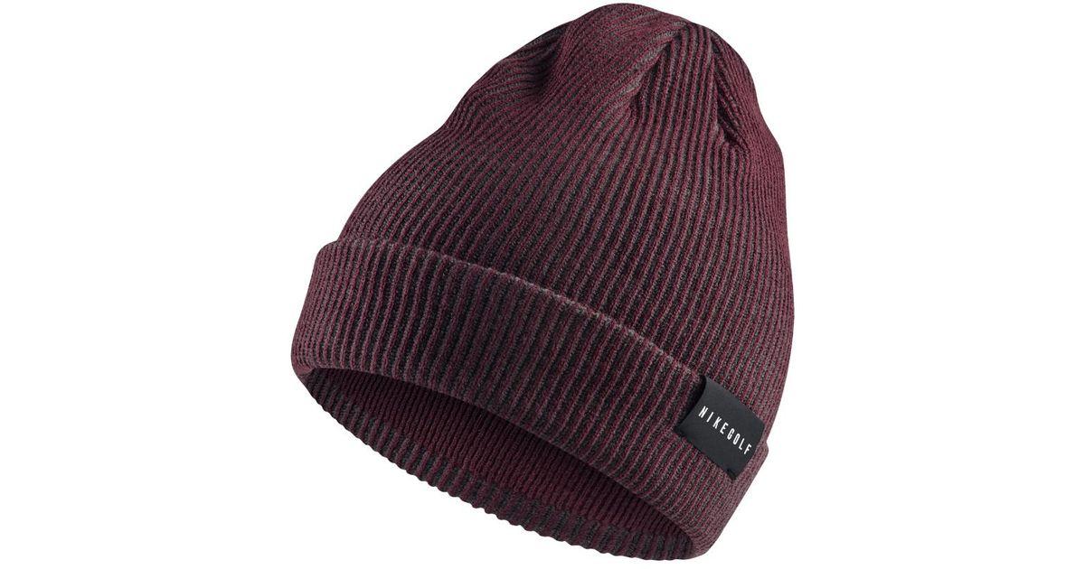 30a4640b8a72 Lyst - Nike Golf Beanie (black) in Purple for Men