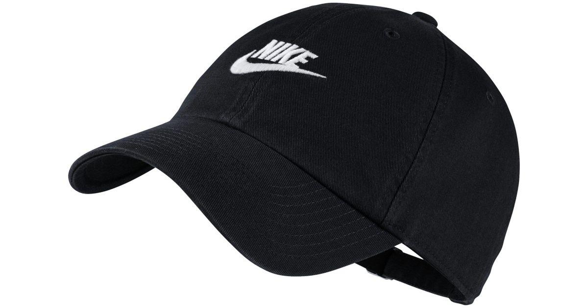 4836b724615 Nike Sportswear Futura Twill Hat in Black - Lyst