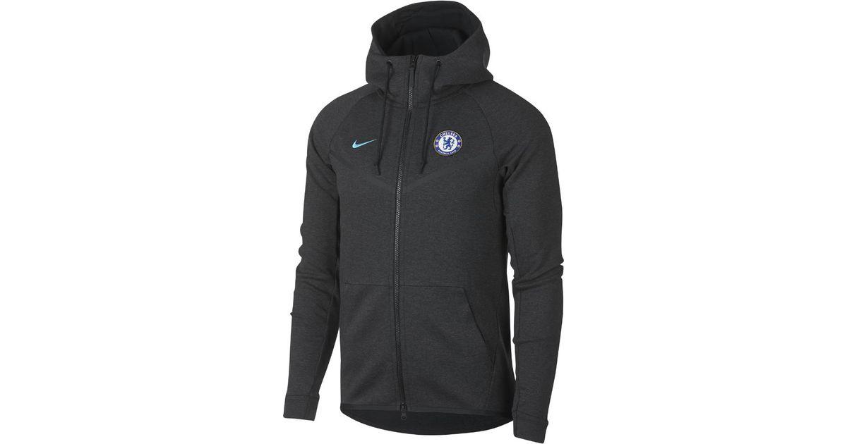 4e7ebd653 Nike Chelsea Fc Tech Fleece Windrunner Men's Jacket in Black for Men - Lyst