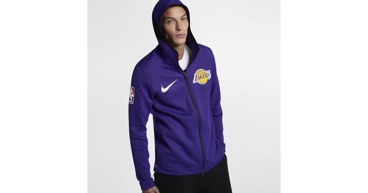 27a8a0de0a4 Lyst - Nike Los Angeles Lakers Therma Flex Showtime Men's Nba Hoodie in  Purple for Men