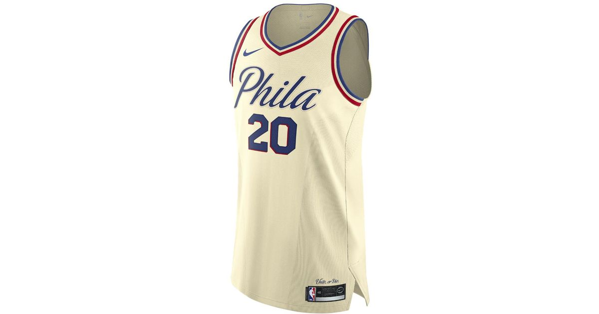 Lyst - Nike Markelle Fultz City Edition Authentic Jersey (philadelphia 76ers)  Men s Nba Connected Jersey in Natural for Men 29fef7308