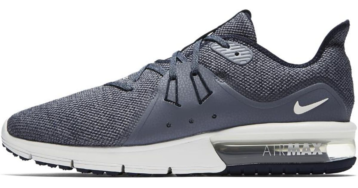 e07a6266938 ... new arrivals lyst nike air max sequent 3 mens running shoe in blue for  men save